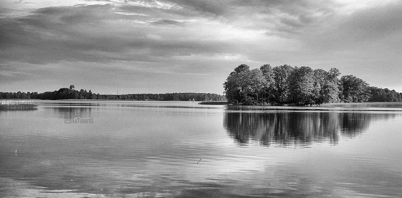 black and white Galve with Trakai