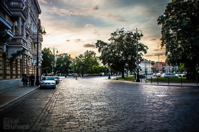 Summer in Vilnius, shortly before sunset and the whole city was alive